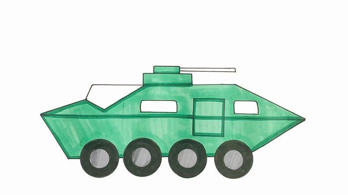 特警战车怎么画