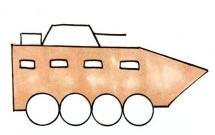 简单的装甲车简笔画怎么画