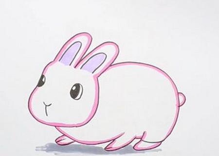 非常可爱的小兔子简笔画