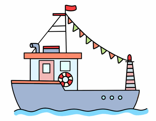 渔船简笔画怎么画