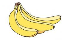 容易学会的香蕉简笔画