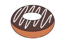 巧克力甜甜圈简笔画画法
