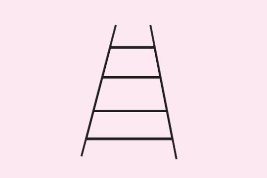几幅关于梯子的简笔画