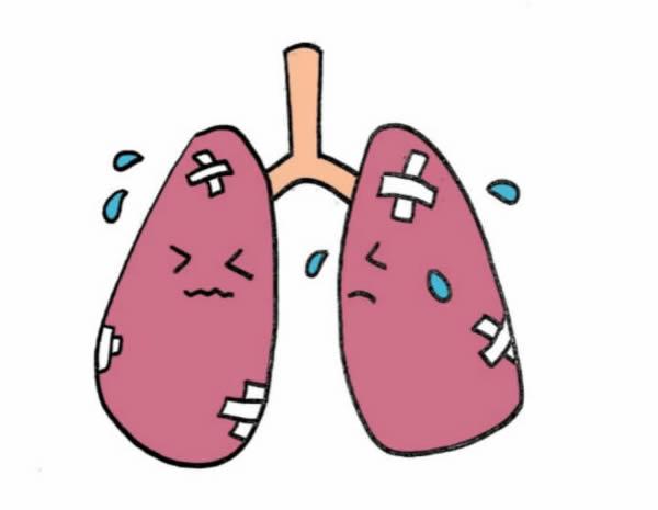 关于肺炎的卡通简笔画