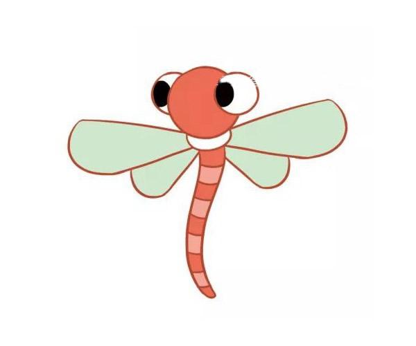 三款漂亮的蜻蜓儿童画