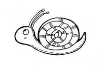 可爱的卡通蜗牛简笔画