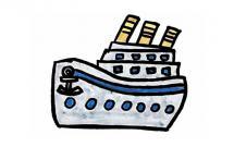 大轮船的简笔画步骤