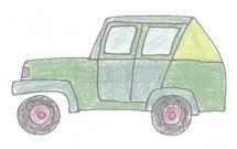 吉普车简笔画的画法