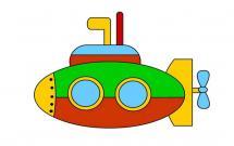 非常漂亮的潜水艇简笔画