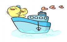 可爱的轮船简笔画
