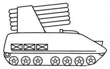 导弹装甲车简笔画