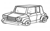SUV汽车简笔画