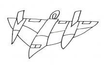 超简单的战斗机简笔画