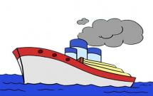 非常漂亮的轮船简笔画