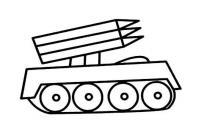 火炮装甲车简笔画