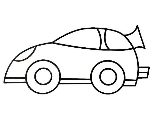卡通的赛车简笔画