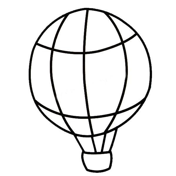 热气球简笔画带涂色
