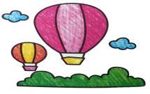 非常好看的热气球简笔画
