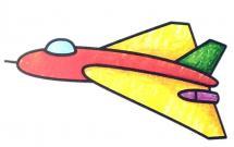 漂亮的战斗机简笔画带涂色
