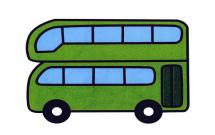 漂亮的双层巴士简笔画