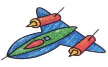 帅气的轰炸机简笔画