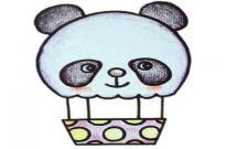可爱的小熊热气球简笔画