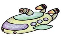 漂亮的潜水艇简笔画步骤