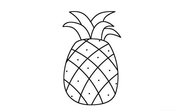 简单的菠萝儿童画