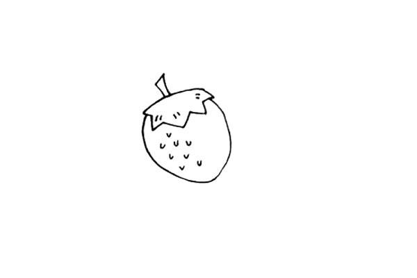 关于草莓的简笔画教程