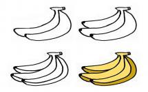 香蕉的简单画法