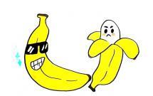 卡通有趣的香蕉简笔画