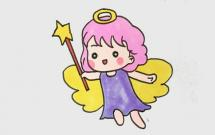 可爱天使女孩简笔画