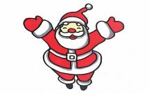 开心的圣诞老人简笔画