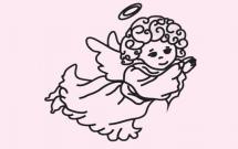 关于天使的简笔画