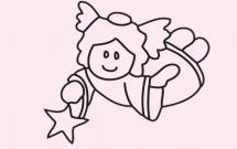 简单的天使儿童画