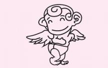 可爱的天使简笔画