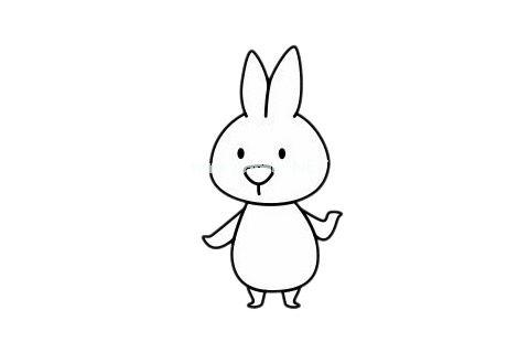 小白兔的简单画法