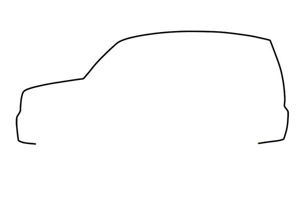 SUV吉普车简笔画步骤