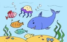 海底世界主题儿童简笔画