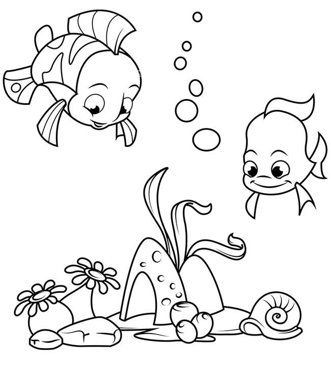 4款海底世界的简笔画大全