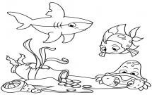 海底世界小动物简笔画