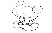 荷叶上可爱的青蛙简笔画