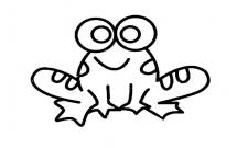 简单的卡通青蛙怎么画