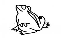 一只大青蛙的简笔画