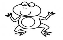 开心的卡通青蛙简笔画