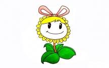 卡通可爱的向日葵简笔画教程