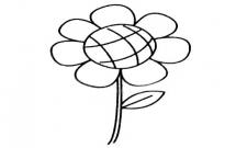 一步步教你画简单的向日葵
