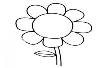 超简单的向日葵简笔画