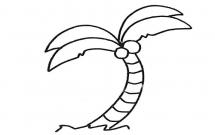 椰树简笔画步骤教程