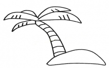 超简单的椰树简笔画